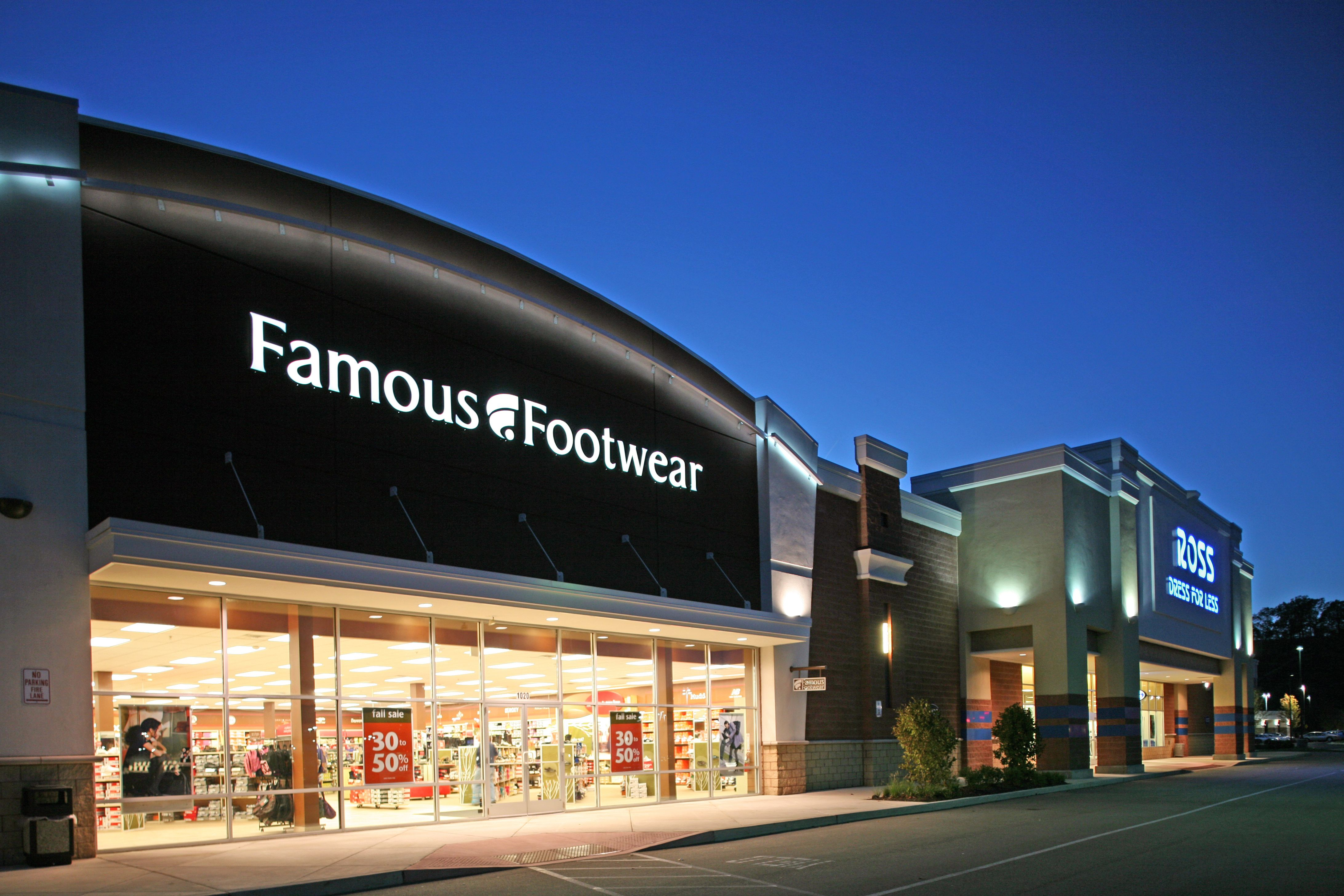 famous footwear exterior shot