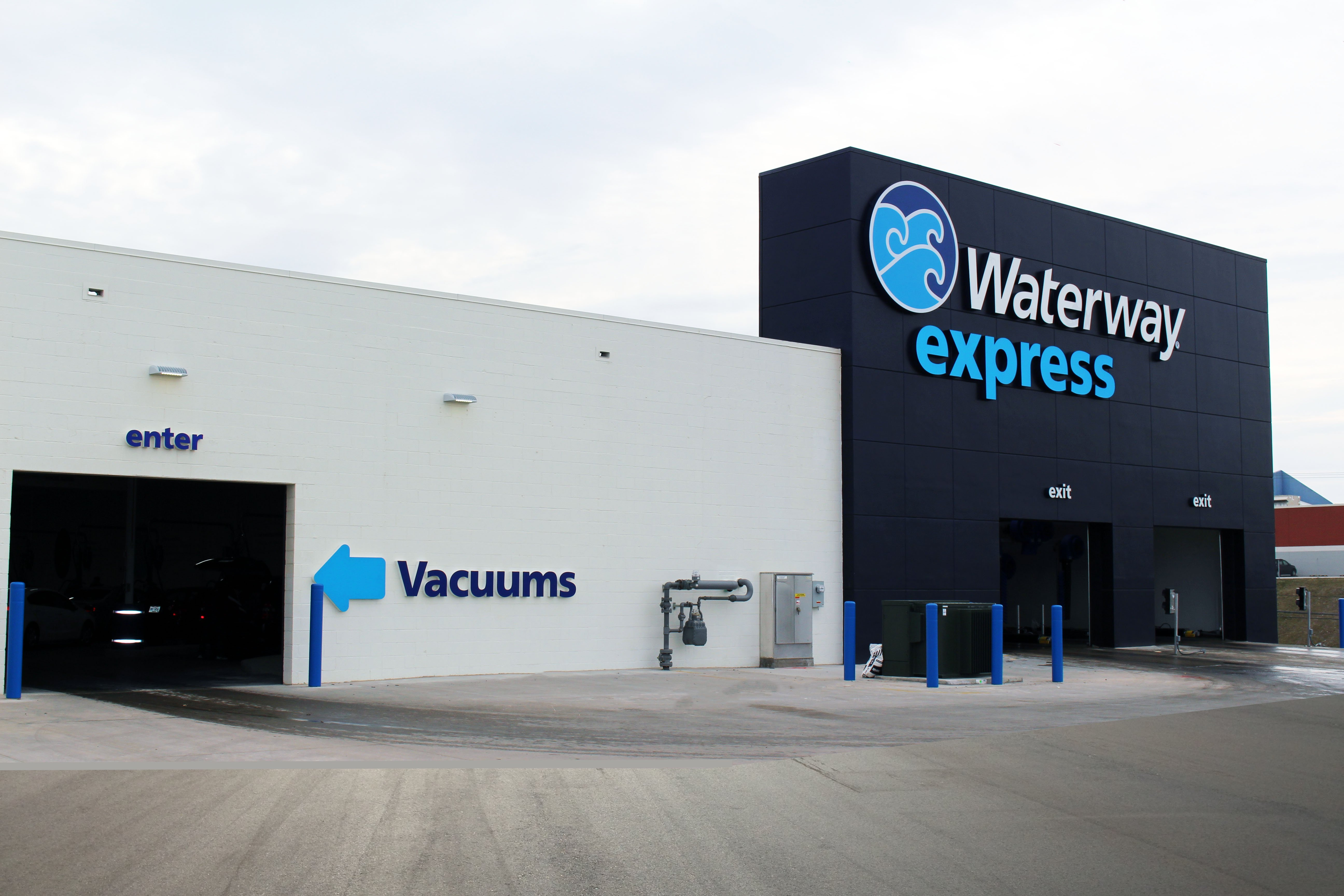 Exterior and interior photos of the Waterway Express in Cleveland, OH